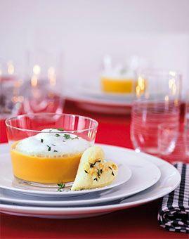Süsskartoffel-Suppe mit Milchschaum