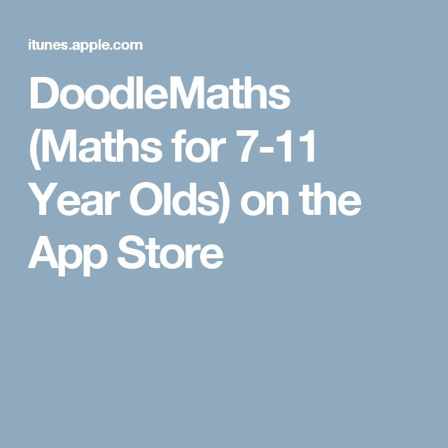 DoodleMaths (Maths for 7-11 Year Olds) on the App Store