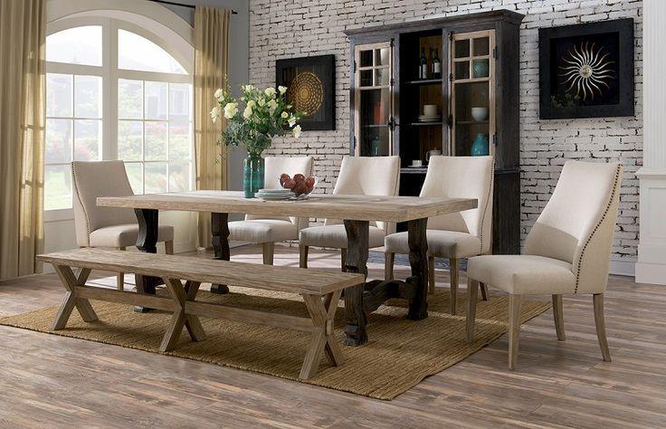 Rustic + Elegant U003d Barcelona Trestle Dining Table! (: