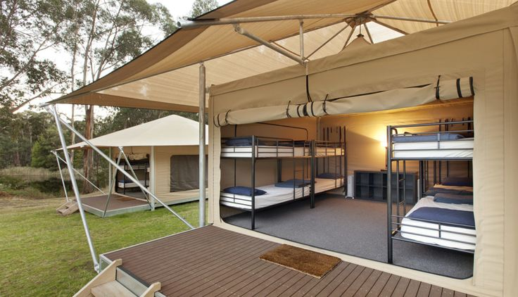 Loving this shot - These kids are Glamping in style at Cave Hill Creek School Camp VIC