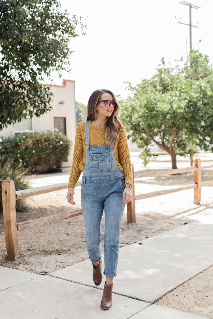 fda18044efb free people overalls with ankle boots and a mustard sweater ...