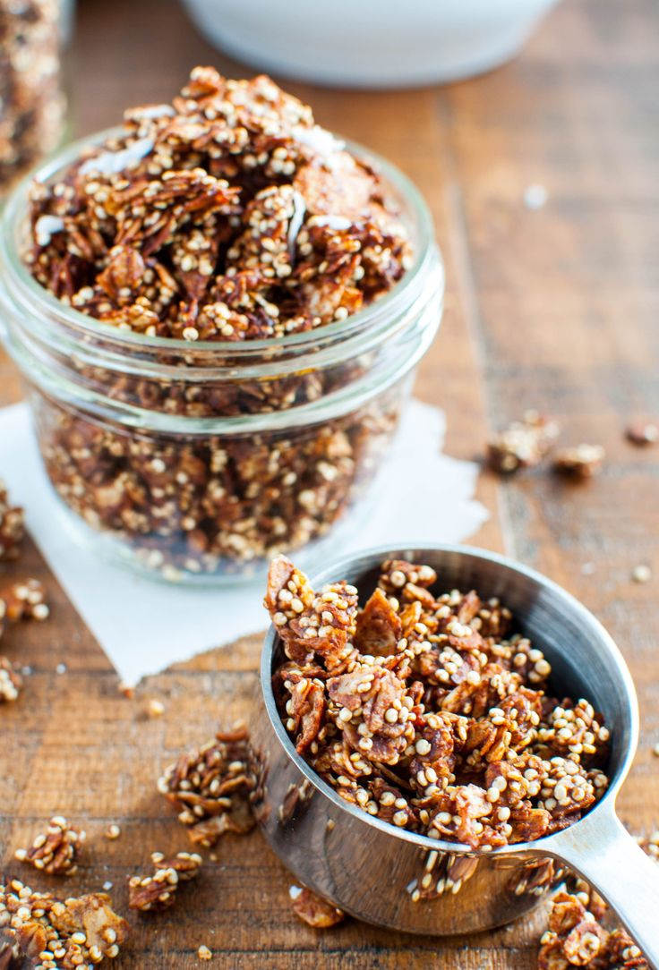 Toasted Coconut, Chocolate, and Peanut Butter Granola-3
