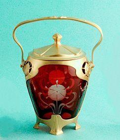 Orion Art Nouveau Biscuit Barrel
