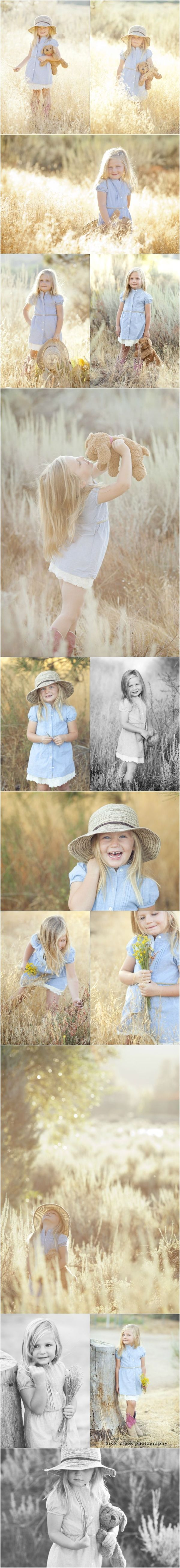 Teddy bear child Field photography