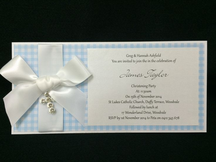 Invitation - Baby Shower - Baby Blue Check - James