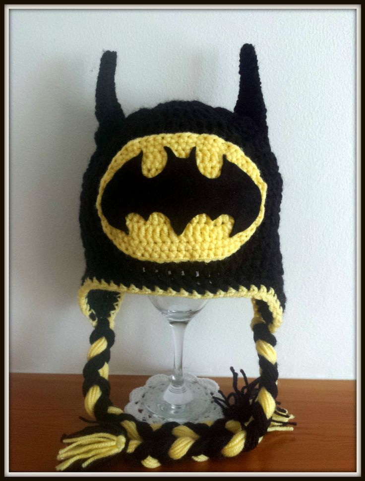 Batman crochet handmade kids baby hat size from 3-6 months to adult | eBay