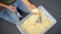 Zaubersand - 8 Tassen mehl, 1 Tasse (Baby)Öl und eine Kiste