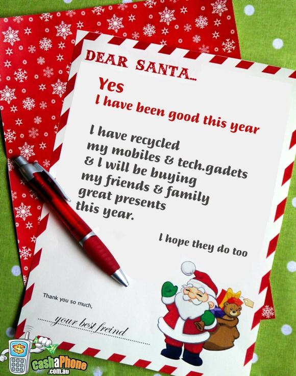 dear santa have i been good?