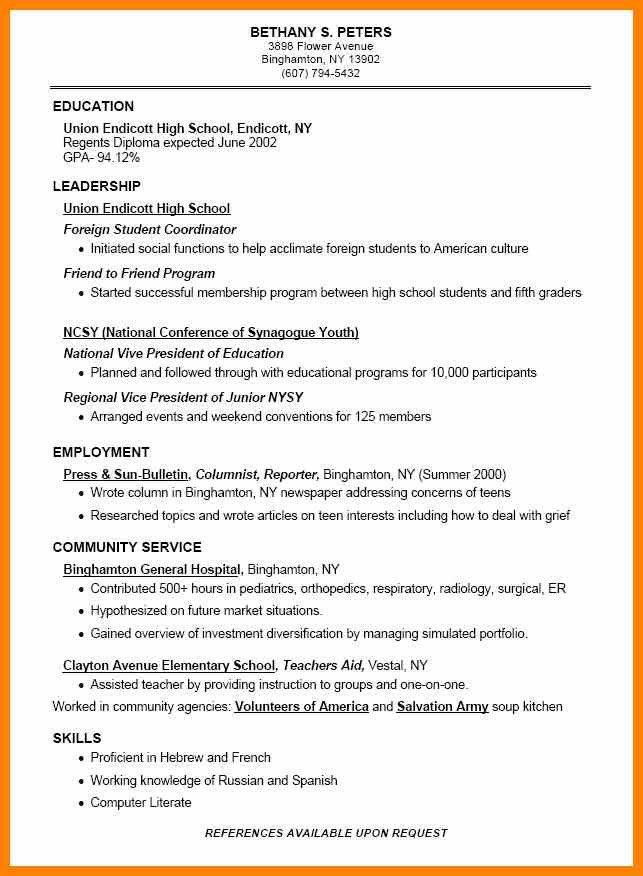 Best 25+ High school resume ideas on Pinterest High school life - culinary student resume
