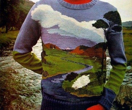 knitted landscape sweater wear pinterest landscaping