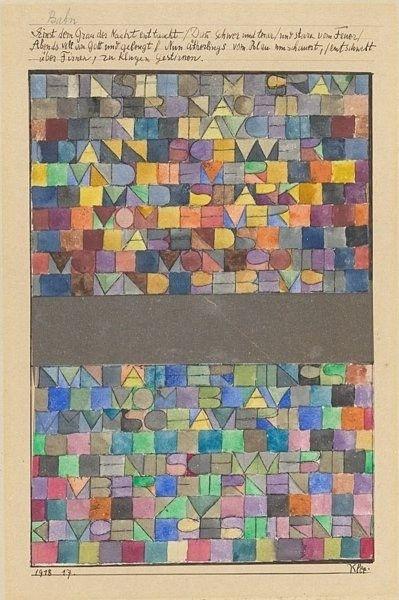Gray of Night: Wall Art, Art Classic, Enttaucht 1918, Klee 1879 1940, Night 1918, Klee Einst, Doce Paul, Paul Klee, Klee 18791940
