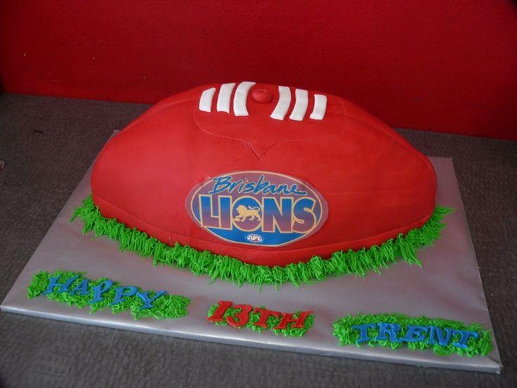 brisbane lions football cake - Google Search