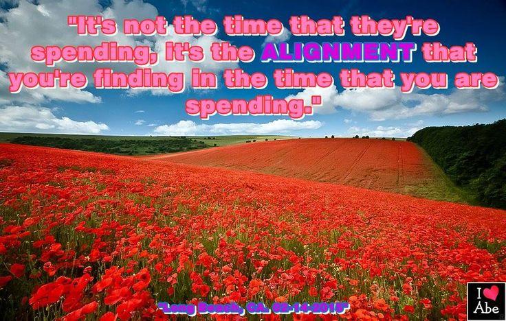 No es el tiempo que ellos estén gastando, es la ALINEACIÓN que tu estás encontrando en el tiempo que tu estás gastando.