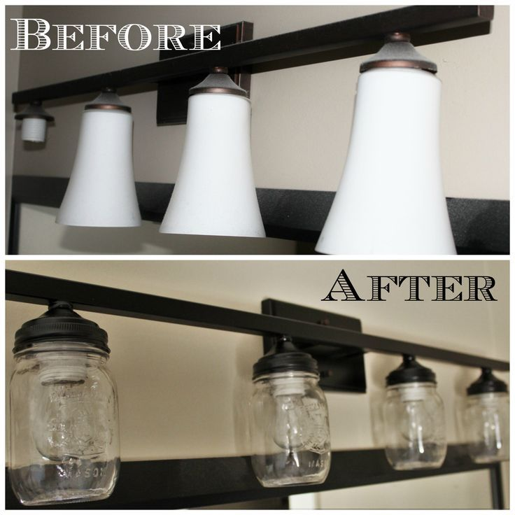 Update Your Bathroom Light Fixture Using Mason Jars This Diy Will Give You A Beautiful New