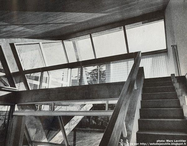 Versailles - Maison Drusch Architecte: Claude Parent Ingénieur conseil: D.M. Davidoff Décoration: Roger Fatus Construction: 1963 - 1965 ...