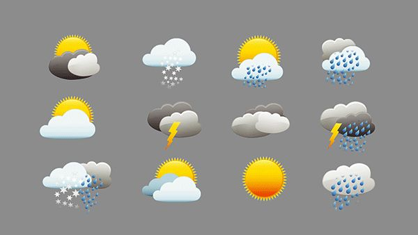 Weather - Animation Icons |  Free Download by Rasheed Sobhee
