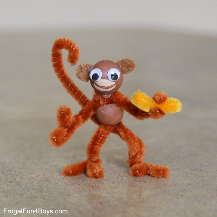 Kids' Craft: Pipe Cleaner Monkeys! - Frugal Fun For Boys and Girls