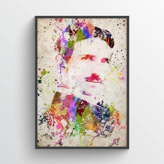 Nikola Tesla Poster Nikola Tesla PrintNikola Tesla by Agedpixel