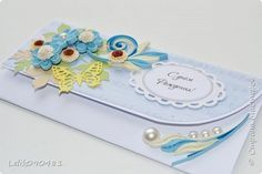 Открытка День рождения Квиллинг конверты для денег Бумажные полосы фото 13