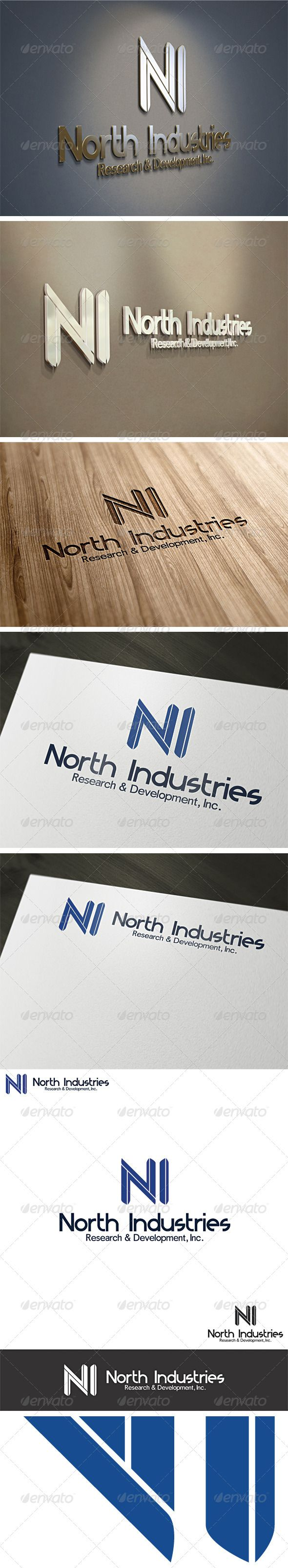 Letter N or I  - Logo Design Template Vector #logotype Download it here: http://graphicriver.net/item/letter-n-or-i-logo-template/2557606?s_rank=1726?ref=nexion