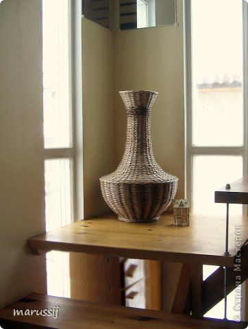 Поделка изделие Плетение Ох уж эти вазы  Бумага газетная Трубочки бумажные фото 6