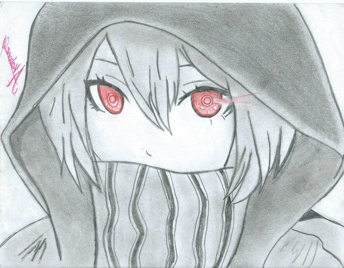 Red Eyes Black And White Pencil Sketch How To Draw Anime Body In 2020 Drawing Anime Bodies Drawings Anime Drawings