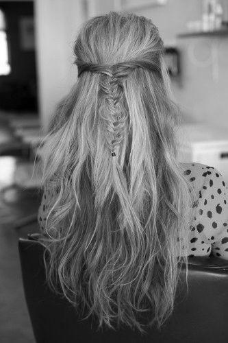 : Fish Tail, Hair Colors, Wedding Hair, Straight Hair, Long Hair, Hairstyle, Hair Style, Fishtail Braids, Braids Hair