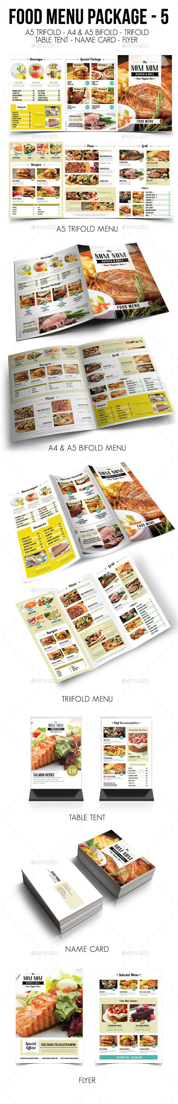 Food Menu Package Template #design Download: http://graphicriver.net/item/food-menu-package-5/13009301?ref=ksioks