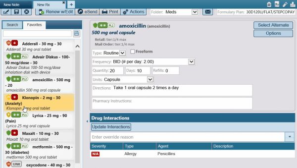 AdvancedMD - ePrescribing included in EHR