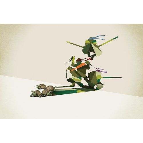 Found it at Wayfair.ca - Walking Shadow Turtles Graphic Art on Wrapped Canvas