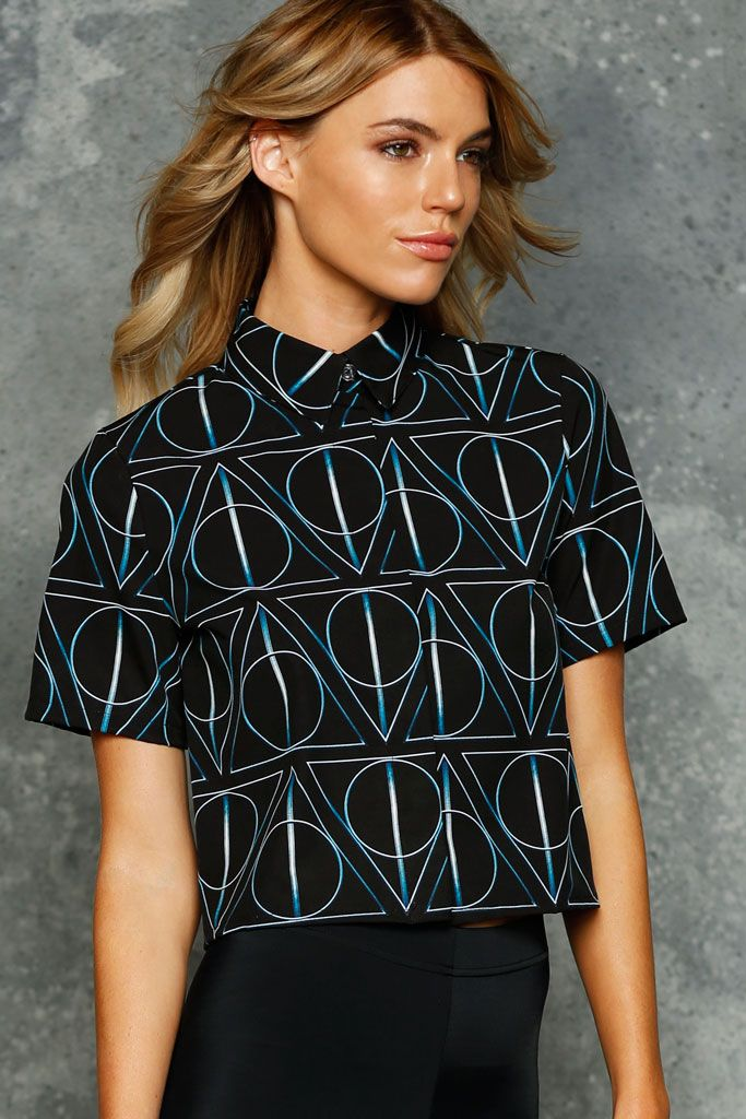 Deathly Hallows Boss Shirt - LIMITED ($90AUD) by BlackMilk Clothing