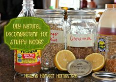 DIY Natural Decongestant that REALLY Works! Get Rid of a Stuffy Nose Naturally