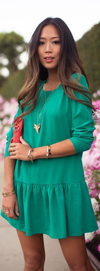 song of style green dress