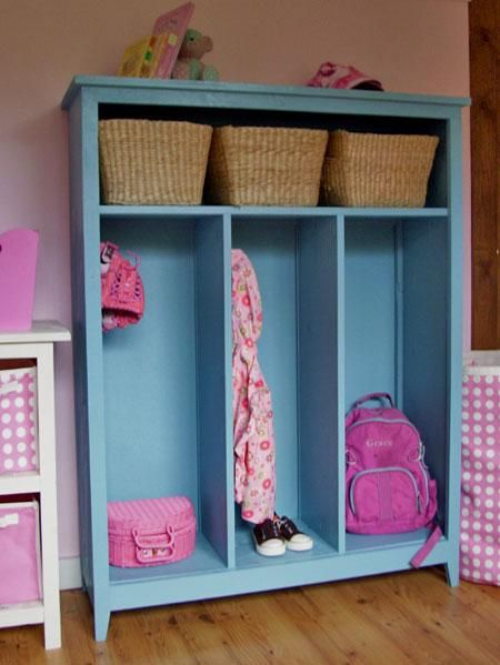 I posted a larger white one. I want mine to be a cross between the two. More kids friendly with doors on it and space at the bottom. I want our kids to be able to reach all of their things and be able to put them away.I do like the baskets, gloves and such can be kept. I think we'll build them a little taller and have storage at top and bottom. We'll have kids stool kept nearby. :)