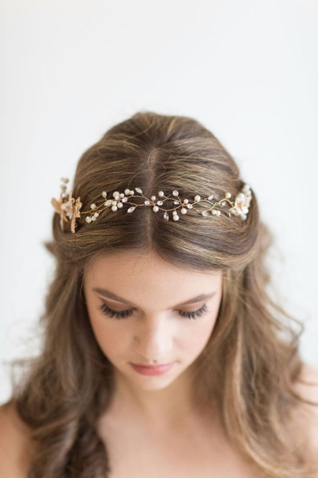 24 Beautiful Bridesmaid Hairstyles For Any Wedding  Simple Hairstyle for Bridesmaids with Cute Headband  Beautiful Step by Step Tutorials and Ideas