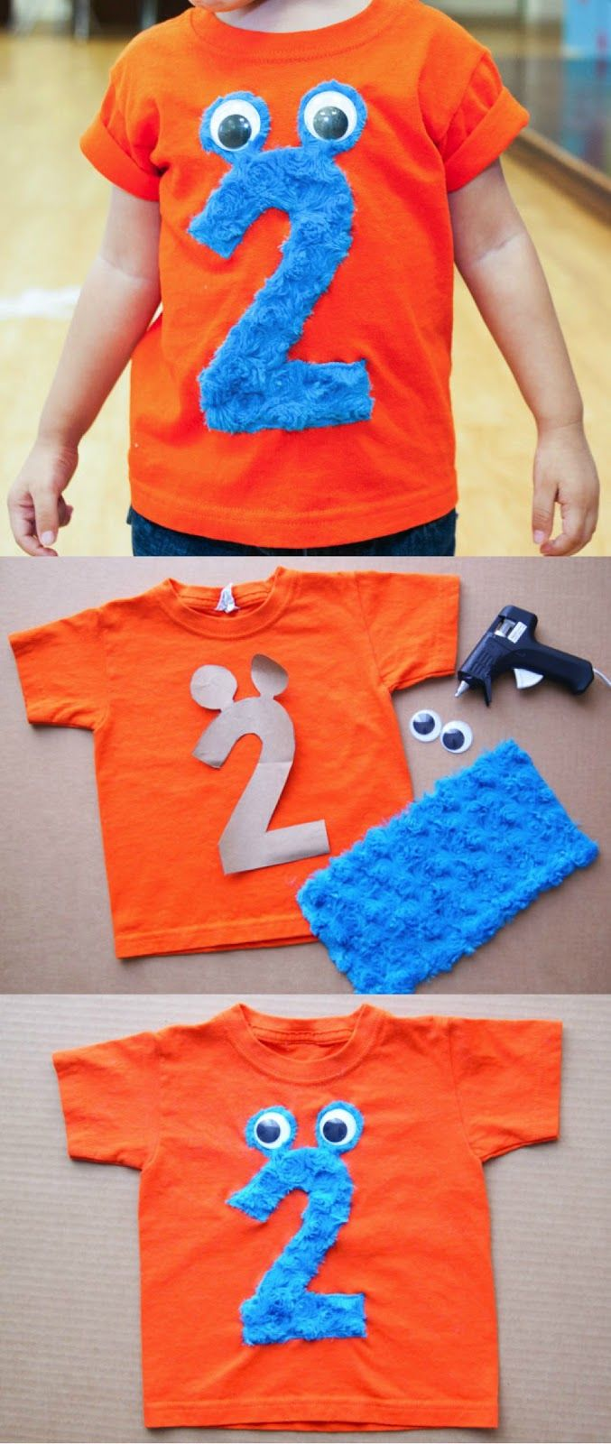 Clo By Clau!: DIY ideas: Monster Tee - Decora una Playera con Monstruo en forma de número
