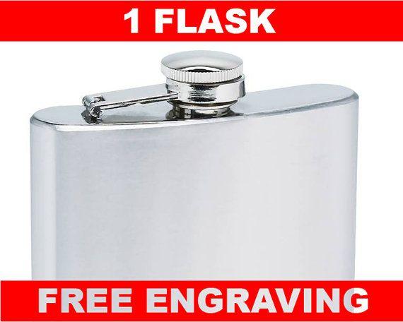Stainless steel flask free engraving custom personalization 6 oz  hip flask best man usher gift