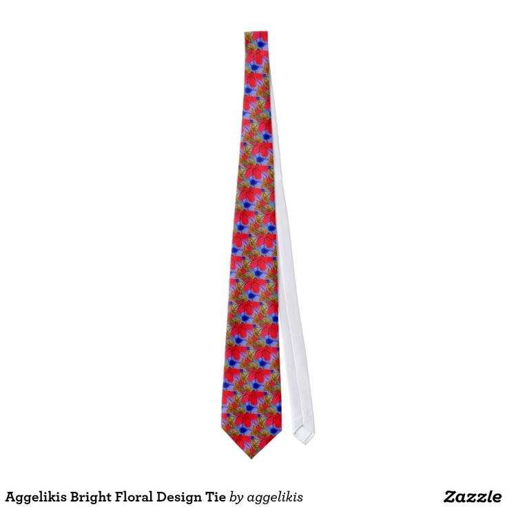 Aggelikis Bright Floral Design Tie
