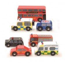 Le_Toy_Van_London_Car_Set #vroom #taxi #doubledecker #firetruck