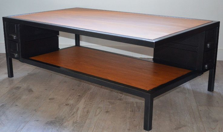 82 best tables bureaux consoles et gueridons images on for Table basse teck et metal