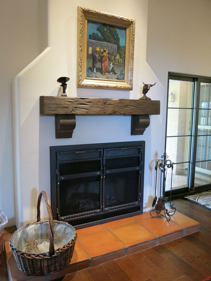 Rustic barn beam fireplace mantel  Hand Hewn Fireplace Mantels Pinterest and Beams