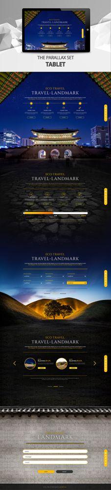 tablet parallax template - iclickart