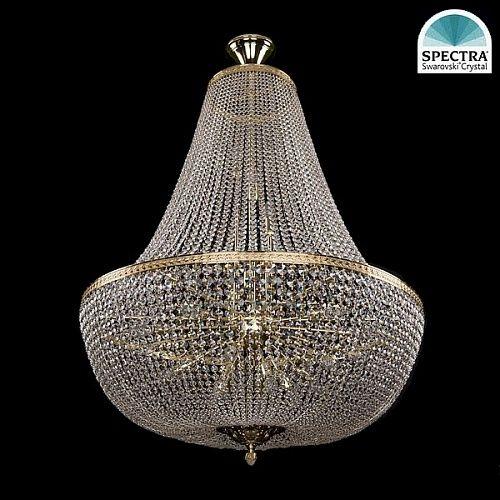 Люстра Большая Bohemia Ivele Crystal 2150/100/GD swarovski - купить по лучшим ценам в интернет-магазине Декор и Свет