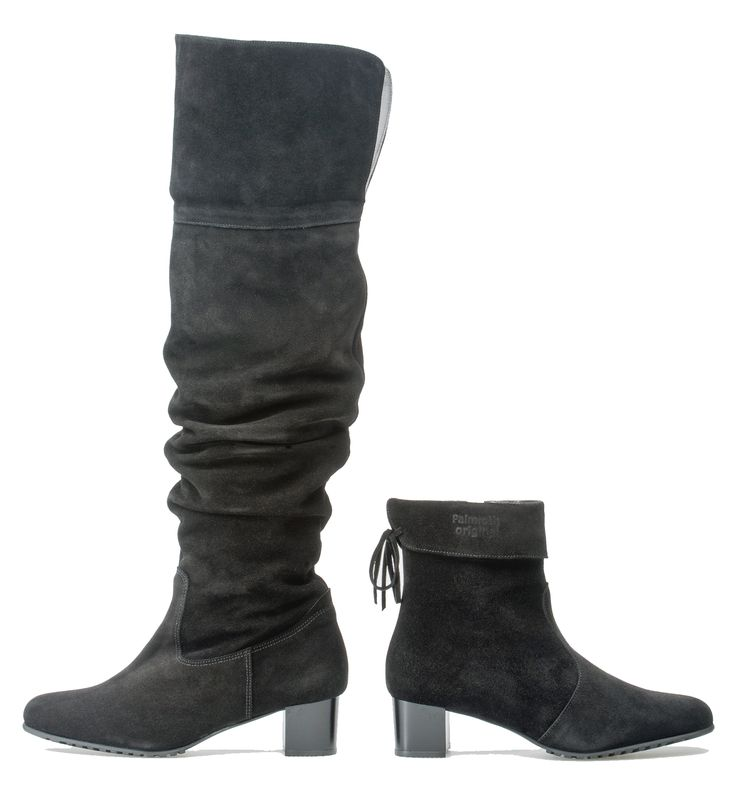 Palmroth water resistant suede over-knee-boots