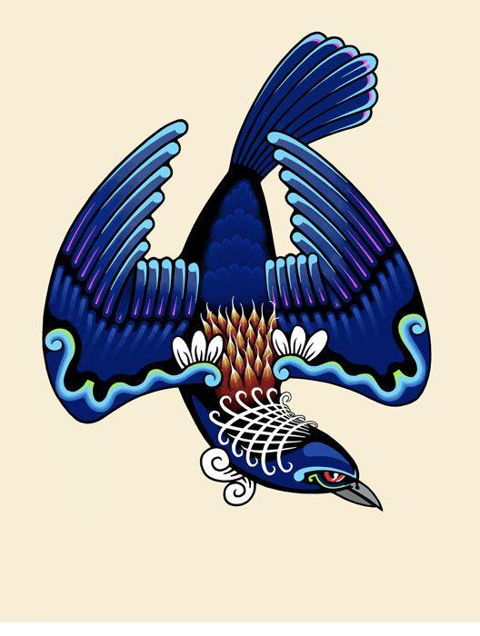 Tui by Lester Hall, neuseeländischer Künstler, www.kiwifinch.com