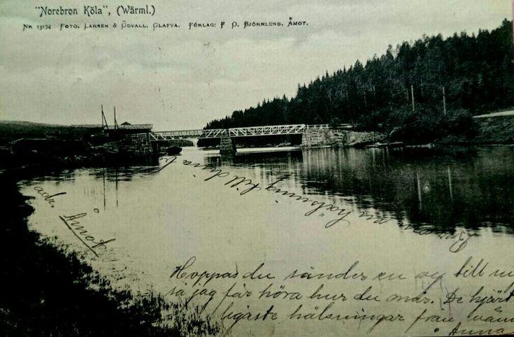 Värmland Eda kommun Åmotfors Köla Norebron Foto Larsen & Ödvall, Glava Förlag Björnlund, Åmot tidlig 1900-tall