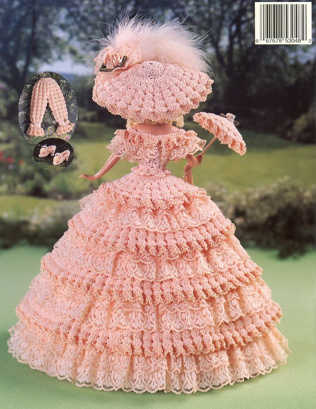 1848 Georgia Peach Outfit Fits BArbie Paradise Vol 37 Crochet Pattern New | eBay