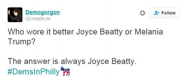 Who wore it best? Congresswoman Joyce Beatty or Melania