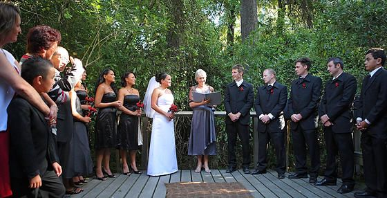 A ceremony in the middle of the bush at Riccarton House