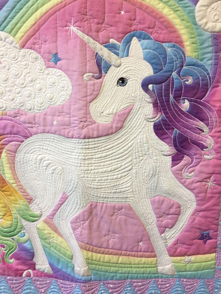 Hattie The Magical Unicorn Magic In Machine Quilting